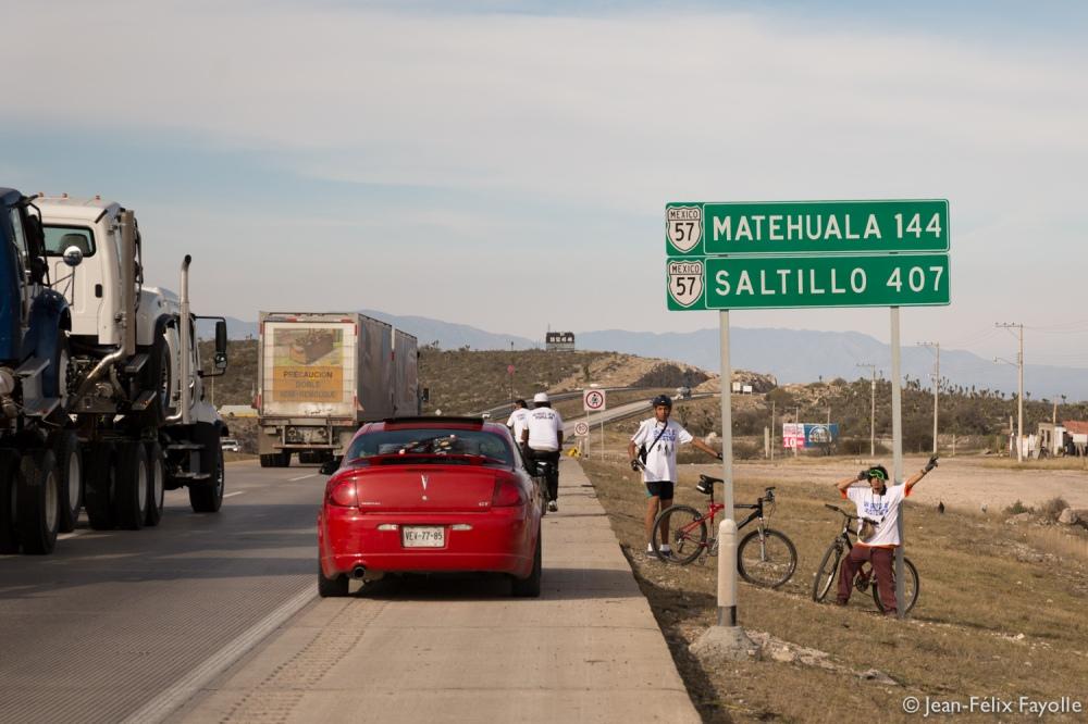 Encore un peu de route avant d'arriver à Matehuala
